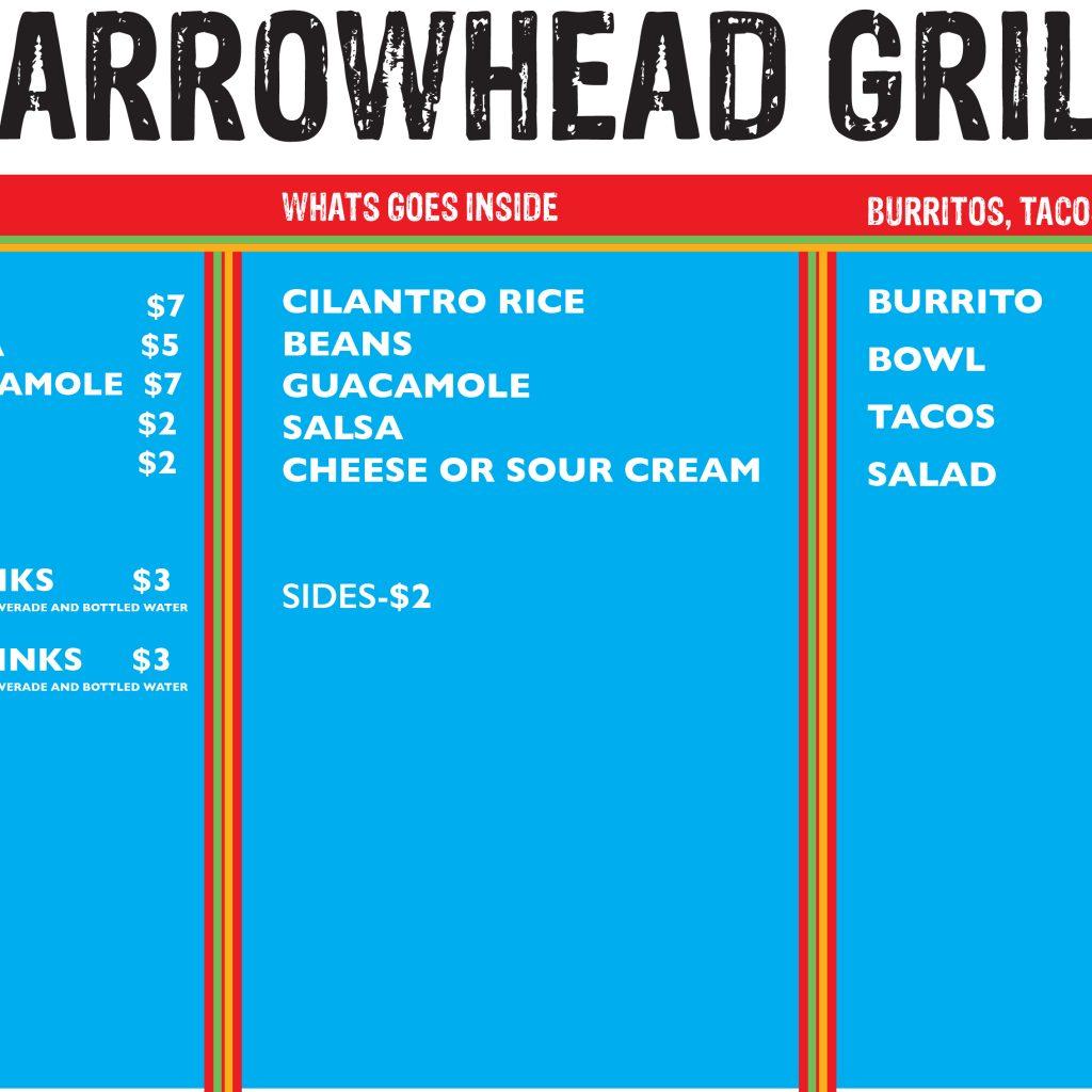 arrowhead grill menu