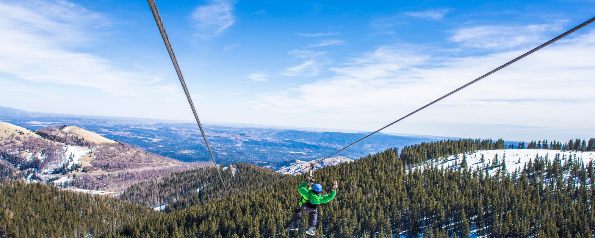 Zip Line at Ski Apache   Highest Zipline New Mexico Ski Apache Trail Map on