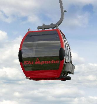 New Mexico Skiing and Snowboarding, Ski Apache New Gondola Rendering